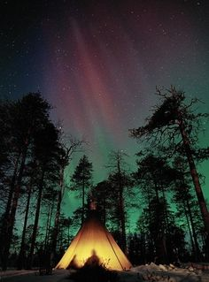 Camping under aurora borealis would be awesome
