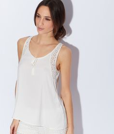 Pyjama top - Sleeveless - Pyjama tops - The collection - Homewear