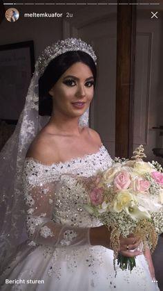 Wedding Looks, Wedding Wear, Bridal Looks, Dream Wedding, Bridal Hair And Makeup, Bridal Beauty, Wedding Hairstyles With Crown, Bride Tiara, Bridal Hair Inspiration