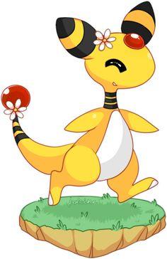 64 Mejores Imágenes De Ampharos Immagini Pokemon Pikachu Y Tuono