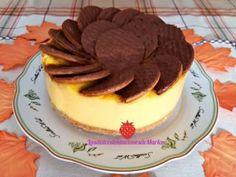 Tarta de Natillas con Galletas de Chocolate