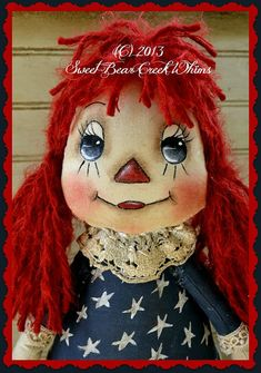 Sweet Bear Creek Whims Happenings.: Raggedy Annie ~ Face Painting Tutorial by Jody Johnson Face Painting Tutorials, Painting Patterns, Doll Clothes Patterns, Doll Patterns, Primitive Patterns, Primitive Doll, Ann Doll, Usa Tumblr, Raggedy Ann And Andy