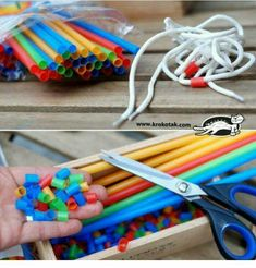 Straws, shoelaces and fine motor skills in children. Create patterns while practicing fine-motor skills Straws, shoelaces and fine motor skills in children. Create patterns while practicing fine-motor skillsUse straws and shoelaces to work on fine motor s Motor Skills Activities, Gross Motor Skills, Sensory Activities, Preschool Activities, Fine Motor Activities For Kids, Activities For 2 Year Olds, Children Activities, Physical Activities, Preschool Learning