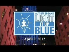 Light It Up Blue! Today is World Autism Day. For more resources on autism visit http://www.autismspeaks.org