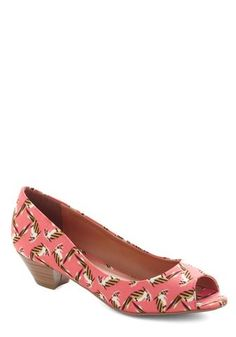 coral with a slight heel.