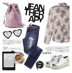 """""""Jean therapy"""" by helenevlacho ❤ liked on Polyvore featuring Therapy, Urbanears and zaful"""