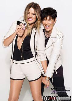 Khloe Kardashian interviewed by Kris Jenner for Cosmopolitan