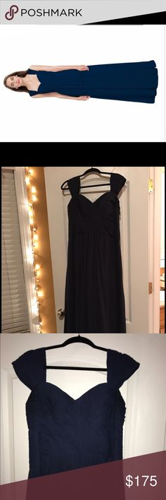Bill Levkoff Bridesmaid Dress Style 1173 The color is navy blue, and matches the color in the cover photo more, which is from the original site. Size 16. Bill Levkoff Dresses Wedding