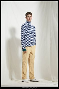 JOSEPH Fashion, Spring Summer 2018 Menswear Collection, Look 19 // Creative Director: Louise Trotter. Head of Menswear: Mark Thomas. Styling: Tony Irvine. Photography: Bibi Borthwick. Model: Jamie McVey //
