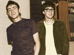 Damon Albarn and Graham Coxon of Blur