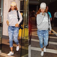 72260e80a6aa Rihanna In G-Star RAW for the Oceans Cropped Jeans