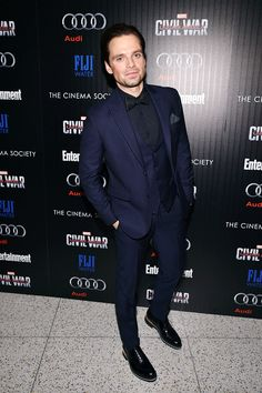 Sebastian Stan attends the screening Of Marvel's 'Captain America: Civil War' hosted by The Cinema Society with Audi & FIJI at Henry R. Luce Auditorium at Brookfield Place on May 4, 2016 in New York City