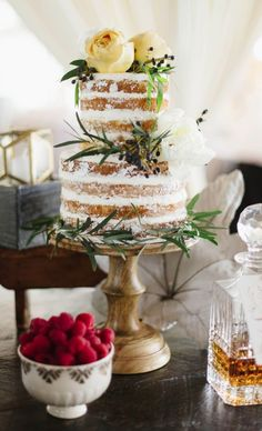 Southern Coastal Wedding Inspiration with a Bourbon Bar, Naked Cake, and views of the Chesapeake Bay Beach Club outside of Annapolis, Maryland. Wedding Cake Fresh Flowers, Wedding Cakes, Cupcakes, Cupcake Cakes, Coastal Wedding Inspiration, Easy Mug Cake, Mod Wedding, Green Wedding, Wedding Stuff