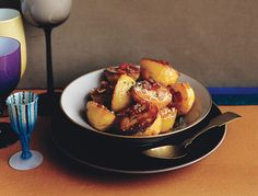 Find the recipe for Roasted Potatoes with Bacon, Cheese, and Parsley and other meat recipes at Epicurious.com