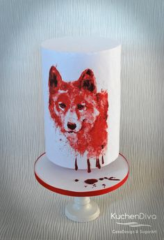Cry Wolf - Animal Rights Collab - Cake by KuchenDiva Kids Birthday Themes, Happy Birthday, Wolf Cake, Gateaux Cake, Edible Art, Animal Rights, Custom Cakes, Cake Designs, Cupcake Toppers