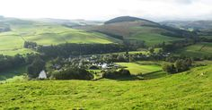 The Ettrick Valley, you can just make out The Green House holiday accommodation in the middle of the photo.