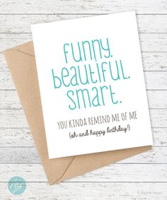 Girlfriend Birthday Card Friend Funny By FlairandPaper Cards For