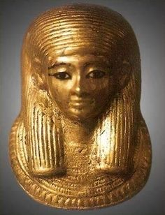 Queen Ankhesenamen - source page says it is a mummy mask from one of Tutankhamun's unborn daughters