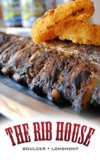 The Rib House in Boulder has some of the BEST ribs and smoked meats you'll ever taste as it was featured on The Travel Channel. You can even buy some BBQ sauce to go!