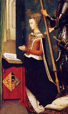 The Trinity Altarpiece depicting James III of Scotland and Margaret of Denmark, Queen of Scotland at prayer by Hugo van der Goes, c. 1480