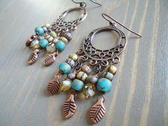 Shabby Chic Vintage Gypsy Chandelier Earrings by BijouxFan, on Etsy