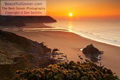 Three Cliffs Bay from Penmaen Burrows by Dan Santillo
