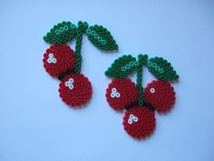 Cherries in Perler beads