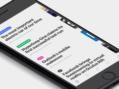 Hey Dribbblers! Here are some news feed interactions concepts for an upcoming product. Check out the attachment for the higher res, and infinitely better looking 60fps version. Have a nice day. ...