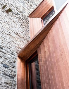 Gianluca Gelmini's Attentive Restoration of the Medieval Torre Del Borgo in Bergamo Metal Cladding, External Cladding, Facade Architecture, Contemporary Architecture, Medieval Tower, Medieval Fortress, Iron Staircase, Facade Design, Windows And Doors