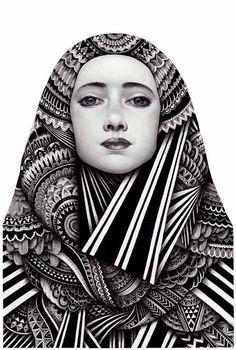 Illustration by Iain Macarthur for JSR Agency artist agents. Zentangle Drawings, Art Drawings, Zentangles, Graphic Design Illustration, Illustration Art, Inspiration Art, Illustrations, Mandala Design, Art Plastique