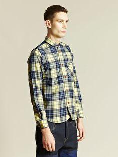 Junya Watanabe Men's Twill Tartan Check Shirt