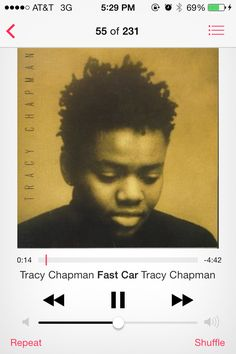 I love this song so much. It's definitely in my all time favorites. Fast Car - Tracy Chapman.