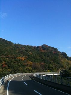 The way which falls out in a mountain(Minami-Shimabara,Japan)