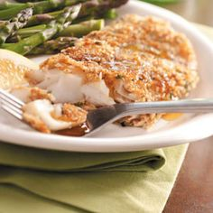 Walnut-Crusted Orange Roughy Recipe - turned out pretty good. Be careful not to over salt! The honey-soy sauce really makes the dish.