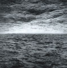 Gerhard Richter often used strategies like optical illusion, reflection and doubling, which can be seen in works like 'Seascape (Sea-Sea)' from 1970. The painting was based on a photocollage showing a seascape in which the sky was replaced by a different photograph of waves.