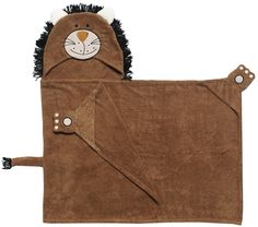 """Zoocchini """"Lars the Lion"""" Hooded Towel"""