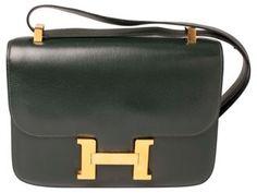 Hermès Constance Moss Green Bag, 1980s