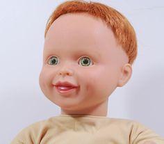 """My Twinn Toddler Baby Boy Doll Redhead Green Eyes Fully Poseable 19"""" 1999 #MyTwinn #Dolls"""