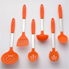 Culinary Couture Stainless Steel And Silicone Cooking Utensil Set With  Ebook   Orange * See This Great Product.