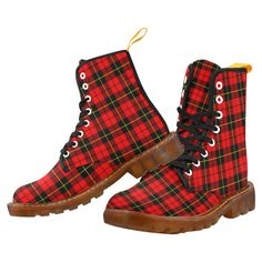 Tartan Boot – Ruthven Modern Martin Boot – Your Tartan Clan Buchanan, Clan Macdonald, Campbell Clan, Clan Macleod, Floral Combat Boots, Large Leather Tote Bag, Faux Fur Boots, Luggage Cover, Martin Boots