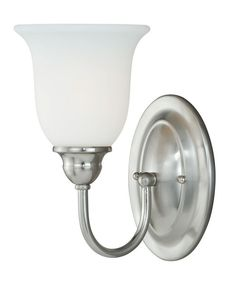 Vaxcel Lighting W0072 Concord 1 Light Bathroom Sconce - 6 Inches Wide Satin Nickel Indoor Lighting Bathroom Fixtures Bathroom Sconce