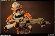 "Sideshow Militaries of Star Wars Commander Cody Premium Format Figure Statue ""When have I ever let you down?"" Sideshow Collectibles presents Commander Cody, the practical, cool-headed leader of the 212th Battalion's highly decorated Ghost Company. Our dynamic Premium Format figure wears a phase II bucket and detailed armor bearing the distinctive markings of Cody's famed unit. Leading the charge, he hits the battlefield armed with a DC-15 A Blaster Rifle complete with detachable gra.."