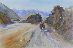 Paintings - prices include courier with in New Zealand, please contact me for overseas postage options. New Zealand Landscape, Artist Painting, Watercolours, Paintings, Studio, Paint, Painting Art, Studios, Painting