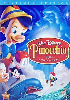 Walt Disney   Walt Disney Characters Pinnochio Two-Disc Platinum Edition Disney DVD ...