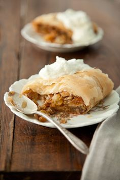 Paula Deen Apple Strudel. Great with coffee for your guests!