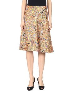 JIL SANDER 3/4 Length Skirt. #jilsander #cloth #dress #top #skirt #pant #coat #jacket #jecket #beachwear #