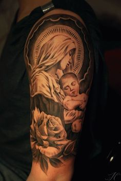 best tattoos virgin and roses - Google Search