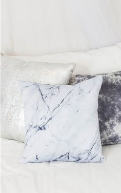 Moonlight Cushion Cover in black and white marble Diy Pillows, Cushions, Throw Pillows, My New Room, My Room, Dorm Room, Marble Room, Black And White Marble, Homewares Online