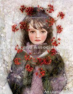 Miharu Yokota Art - «Red Berries Circle»