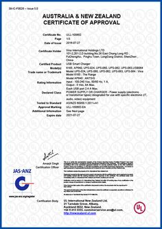 SAA certification for Austrila